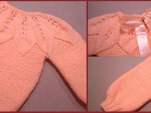 Вяжем свитер с круглой кокеткой для девочки. Ярмарка Мастеров - ручная работа, handmade.