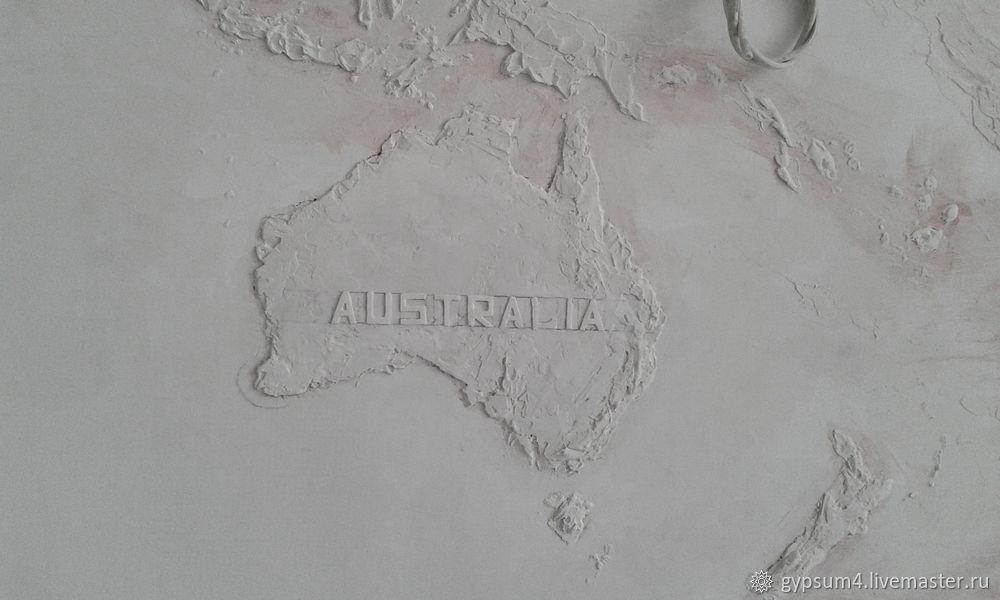 Изготавливаем барельеф «Карта», фото № 20