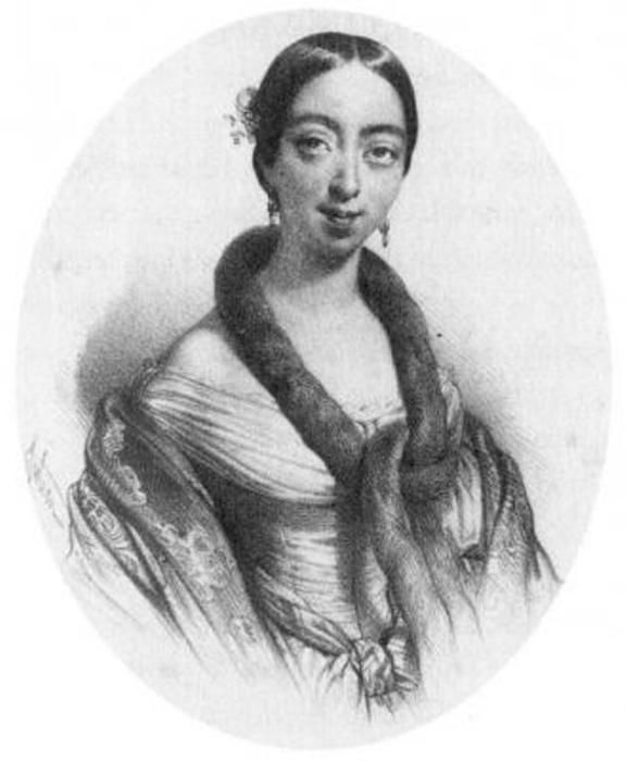 Полина Виардо Гравюра.