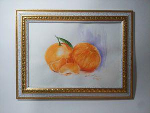 Рисуем акварелью сочные мандаринки. Ярмарка Мастеров - ручная работа, handmade.