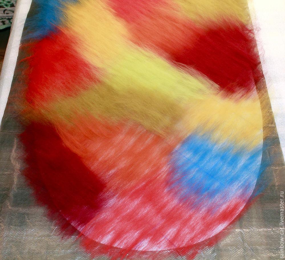 разноцветная шапка