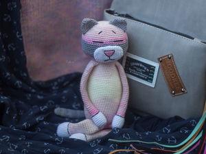 Вязаный кот-аминеко Мишель. Ярмарка Мастеров - ручная работа, handmade.