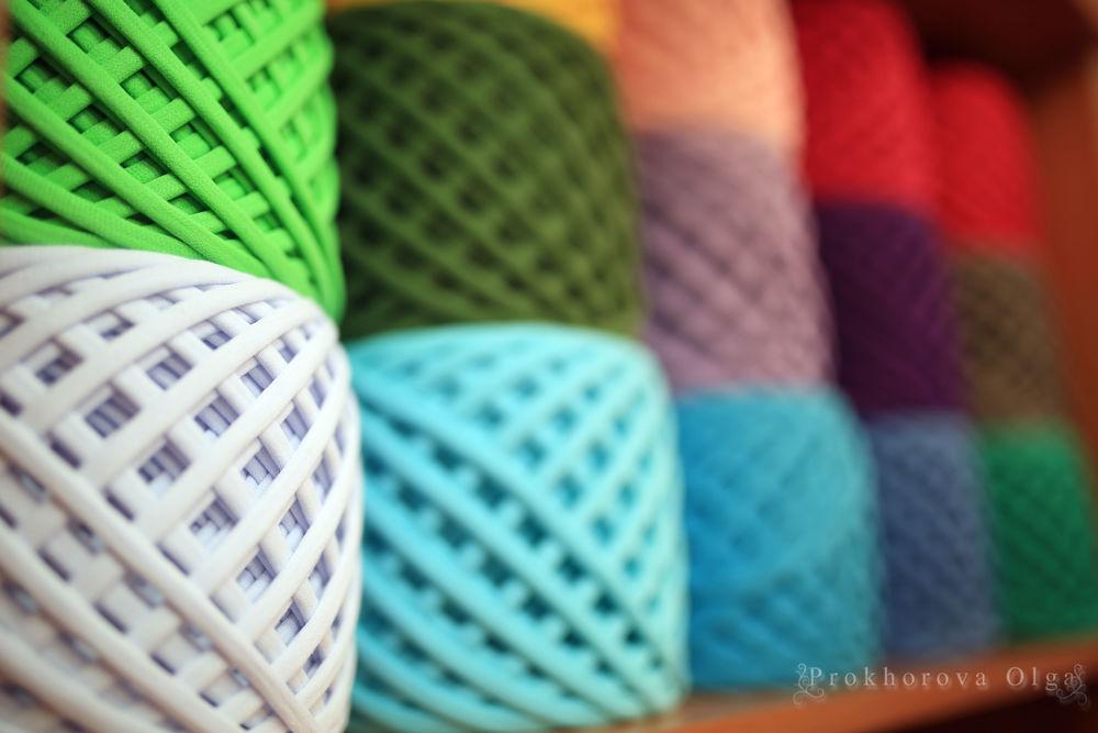 трикотажная лента, низкие цены, тепло, скидки, handmade, т пряжа, купить пряжу в роликах