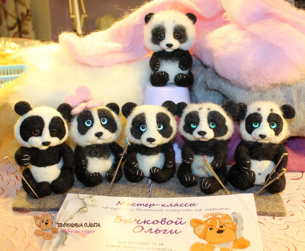 мастер-класс по валянию, обучение, панда