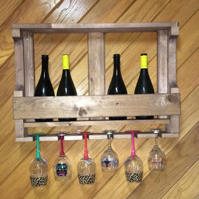 полка для вина, полка для бутылок