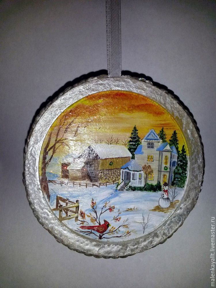 Новогодний медальон своими руками: мастер-класс, фото № 23