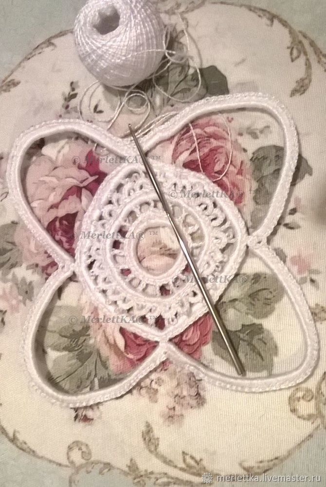 вязание на бурдоне