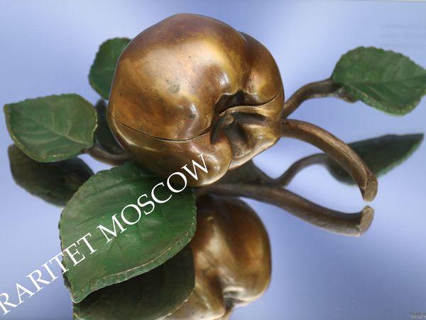 Шкатулка антикварная айва яблоко бронза золото 21 | Ярмарка Мастеров - ручная работа, handmade