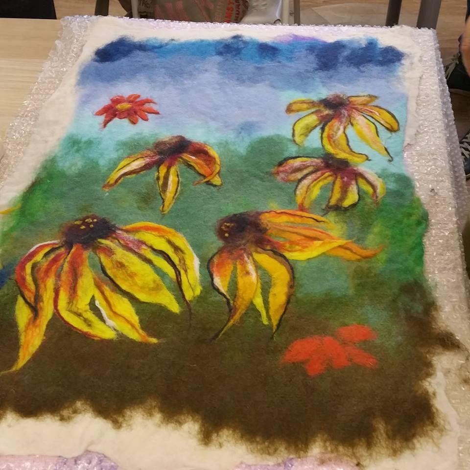 Картина в технике Шерстяная акварель (по мокрому), фото № 7