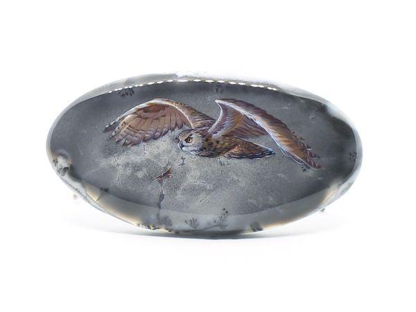 Аукцион. Сова на дендроопале | Ярмарка Мастеров - ручная работа, handmade