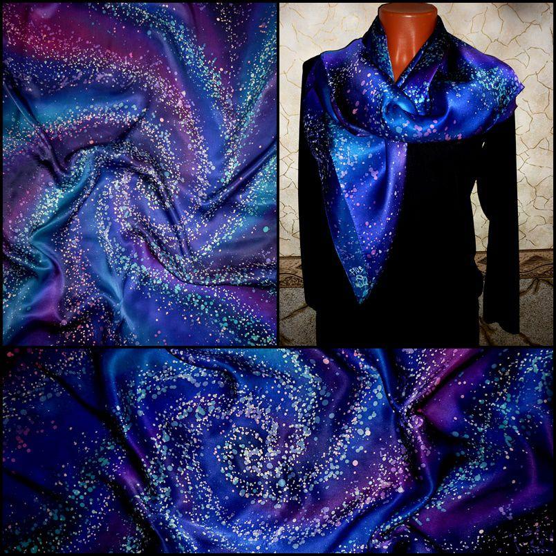 батик, платок шелковый