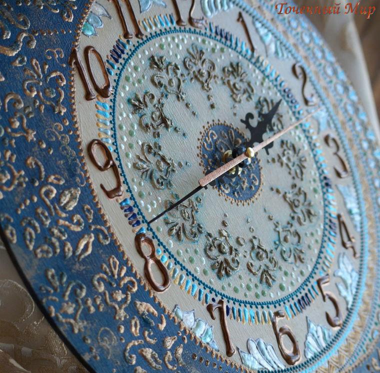 Осваиваем роспись по дереву оформляем интерьерные часы ЧАСТЬ 2, фото № 2