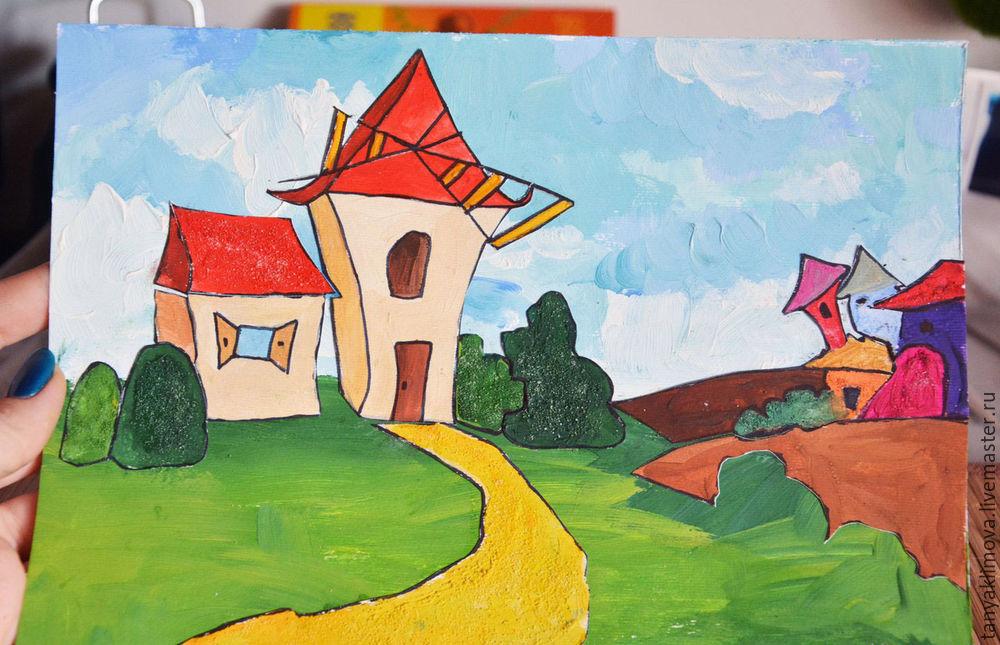 Развиваем детей с помощью аппликации «сказочный город», фото № 25