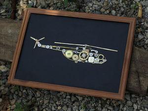 Вертолет МИ18, латунь, шесреренки.. Ярмарка Мастеров - ручная работа, handmade.