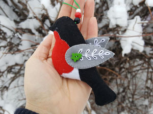 Как сшить снегиря из фетра, видео мастер-класс. Ярмарка Мастеров - ручная работа, handmade.