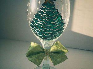 Декорируем новогодний бокал. Ярмарка Мастеров - ручная работа, handmade.