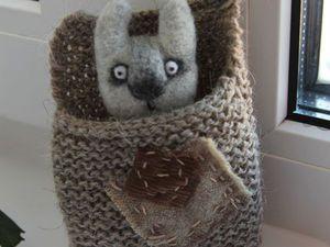 Новый зайчик в кармашке в моем магазине!   Ярмарка Мастеров - ручная работа, handmade
