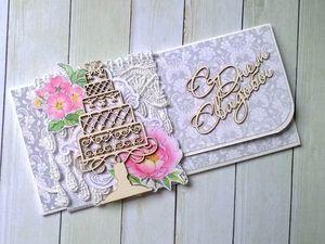 Мастерим свадебный конверт для денежного подарка. Ярмарка Мастеров - ручная работа, handmade.