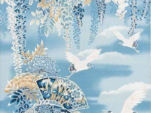 Журавли,глициния, хризантемы и ирисы.... Ярмарка Мастеров - ручная работа, handmade.
