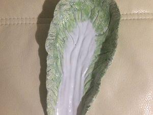 Китайская капуста! тарелочка! Скидка на мастер-класс! | Ярмарка Мастеров - ручная работа, handmade