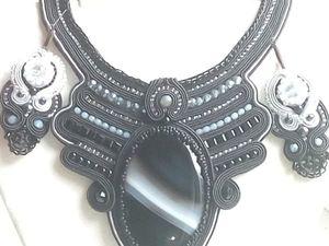 Колье с большим чёрным агатом Чёрный принц. Ярмарка Мастеров - ручная работа, handmade.