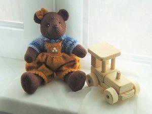 Вязаная мишутка красавица - всего за 400 рублей !!!. Ярмарка Мастеров - ручная работа, handmade.