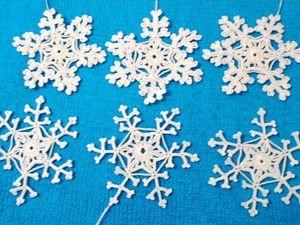 Аукцион на красивые вязаные новогодние снежинки!. Ярмарка Мастеров - ручная работа, handmade.