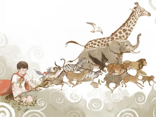 Гармония человека и природы в работах китайского иллюстратора Jin XingYe | Ярмарка Мастеров - ручная работа, handmade