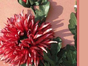 Видео мастер-класс: вышиваем лентами хризантему игольчатую. Ярмарка Мастеров - ручная работа, handmade.
