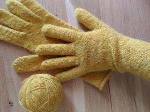 Дебют в моем блоге! Солнечные перчатки из Soft Donegal от Катерины!. Ярмарка Мастеров - ручная работа, handmade.