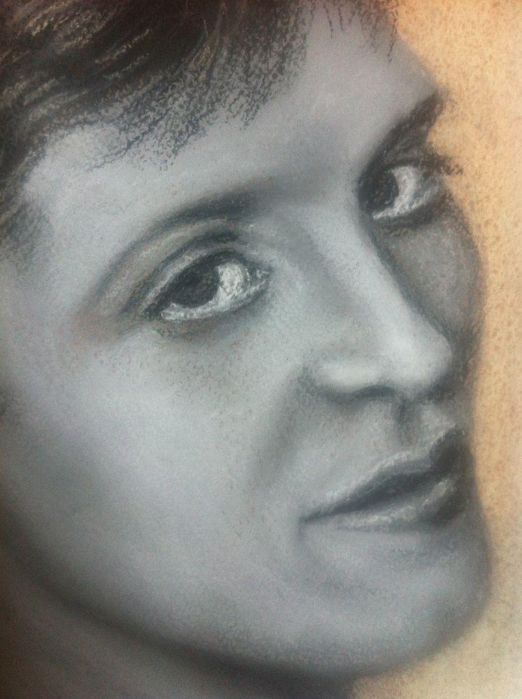 пастельная бумага, портрет, что делать
