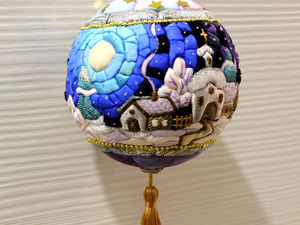 ВИДЕО Елочного шарика  «Новогодняя ночь». Ярмарка Мастеров - ручная работа, handmade.