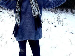 Скидка 44% на свитер оверсайз стального цвета. Ярмарка Мастеров - ручная работа, handmade.