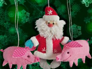 Новогодние игрушки из фетра — мой новый магазин. Ярмарка Мастеров - ручная работа, handmade.