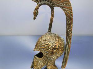 РАРИТЕТИЩЕ Антикварный колокольчик шлем бронза 67   Ярмарка Мастеров - ручная работа, handmade