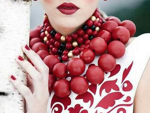 Магия сочетания белого, красного и черного. Ярмарка Мастеров - ручная работа, handmade.
