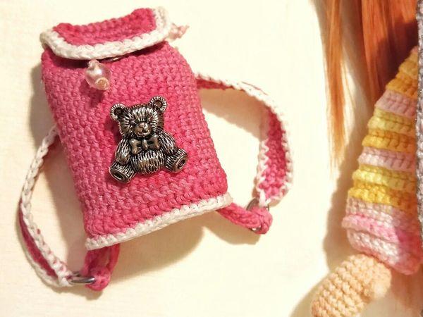 Как связать рюкзачок для куклы   Ярмарка Мастеров - ручная работа, handmade