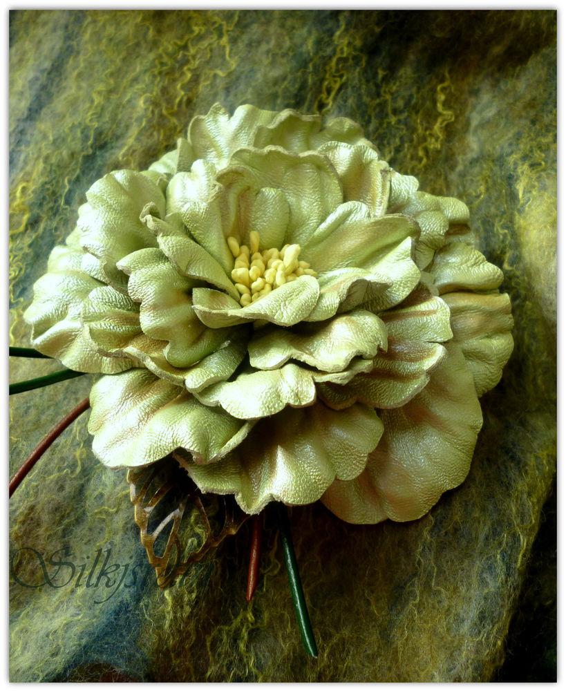мастер-класс, кожаные цветы, брошь, кожаная брошь, цветоделие, досуг в москве