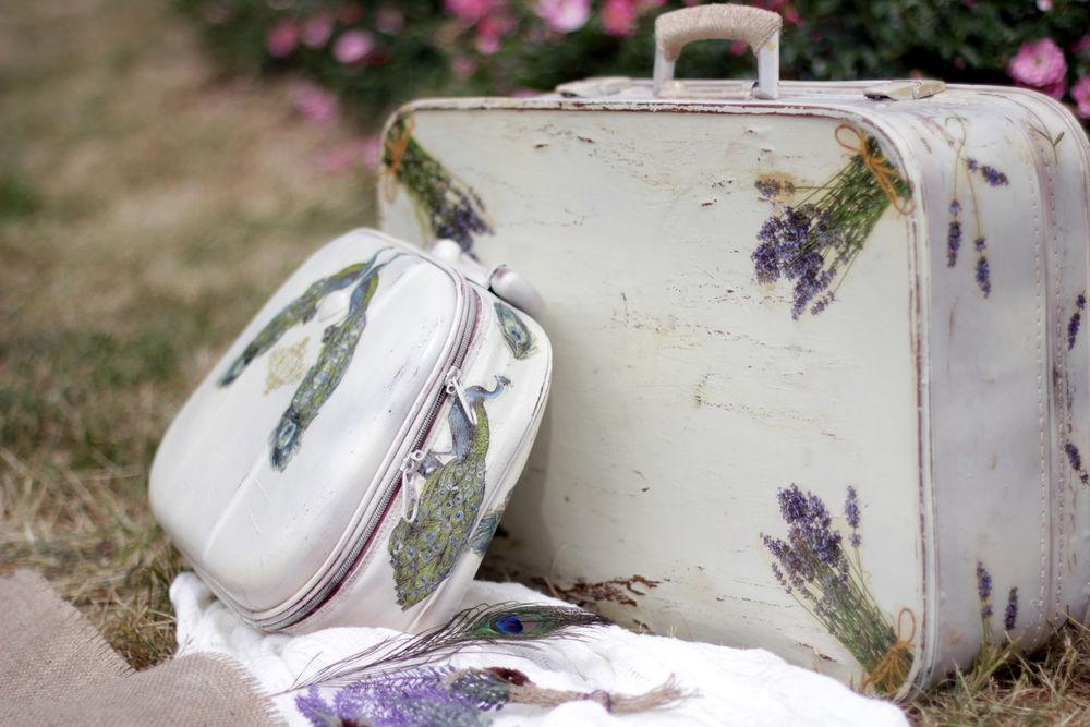 чемодан декупаж, чемодан