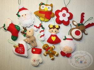 Выкройки для пошива новогодних елочных игрушек. Ярмарка Мастеров - ручная работа, handmade.
