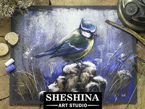 Видеоурок: рисуем синичку сухой пастелью. Ярмарка Мастеров - ручная работа, handmade.