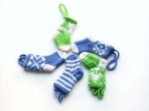 Новинка в магазине - Новогодние носочки. Ярмарка Мастеров - ручная работа, handmade.