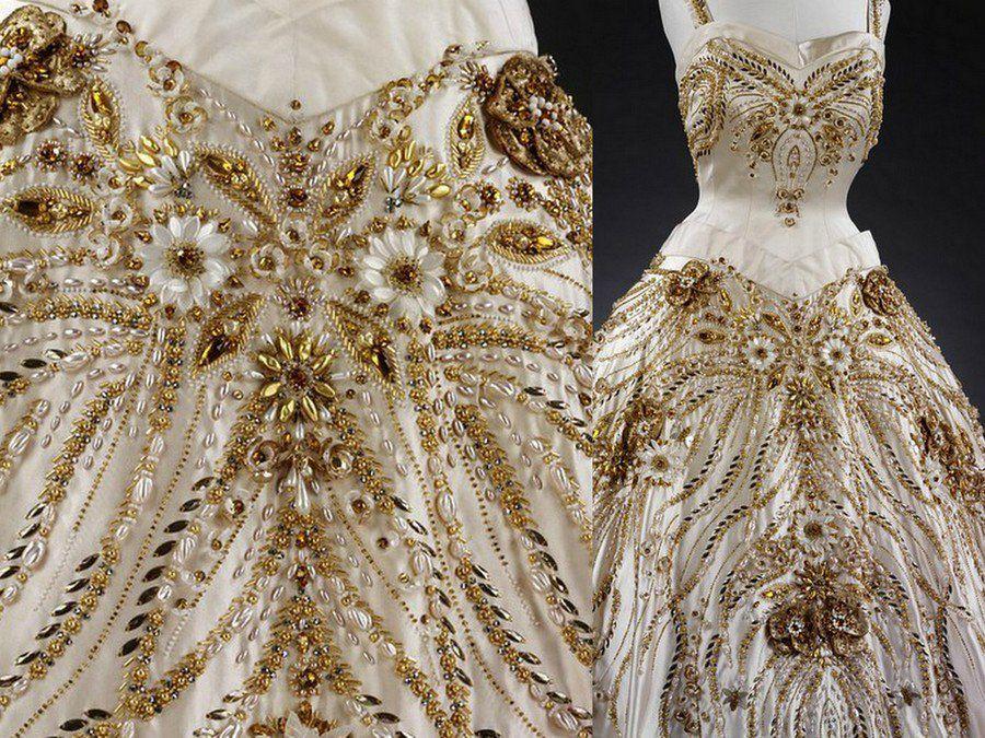 люневильская вышивка, пайетки, haute couture