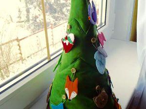 Шьем елочку с тайником и фетровые игрушки ребенку на Новый год. Ярмарка Мастеров - ручная работа, handmade.