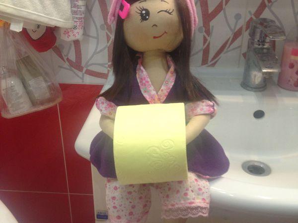 Кукла держатель туалетной бумаги и полотенец. | Ярмарка Мастеров - ручная работа, handmade