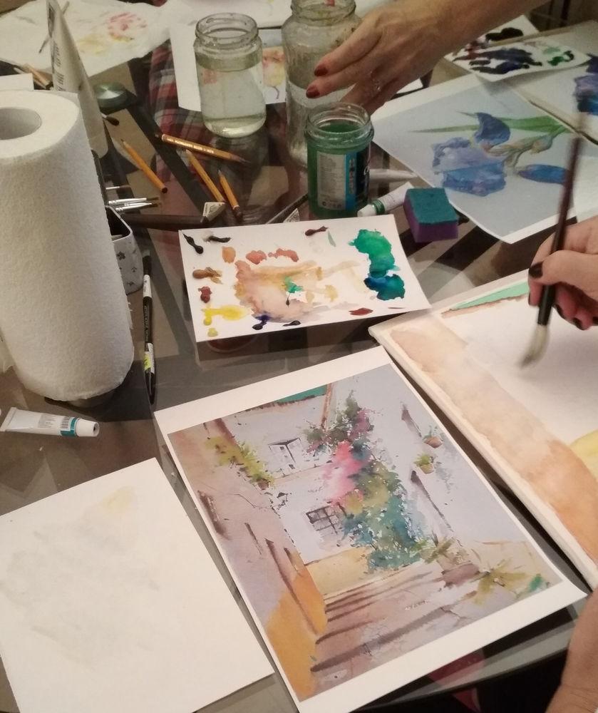акварельная картина, мастер-класс для взрослых