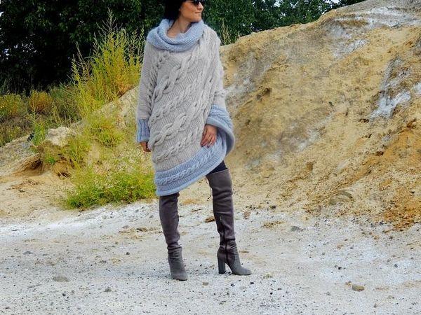 Нежно и комфортно. Пончо вязаное - новинка | Ярмарка Мастеров - ручная работа, handmade