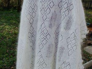 Аукцион! Белый пуховый платок!. Ярмарка Мастеров - ручная работа, handmade.