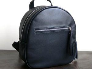 Акция! Кожаный рюкзак черный со скидкой 20%!. Ярмарка Мастеров - ручная работа, handmade.