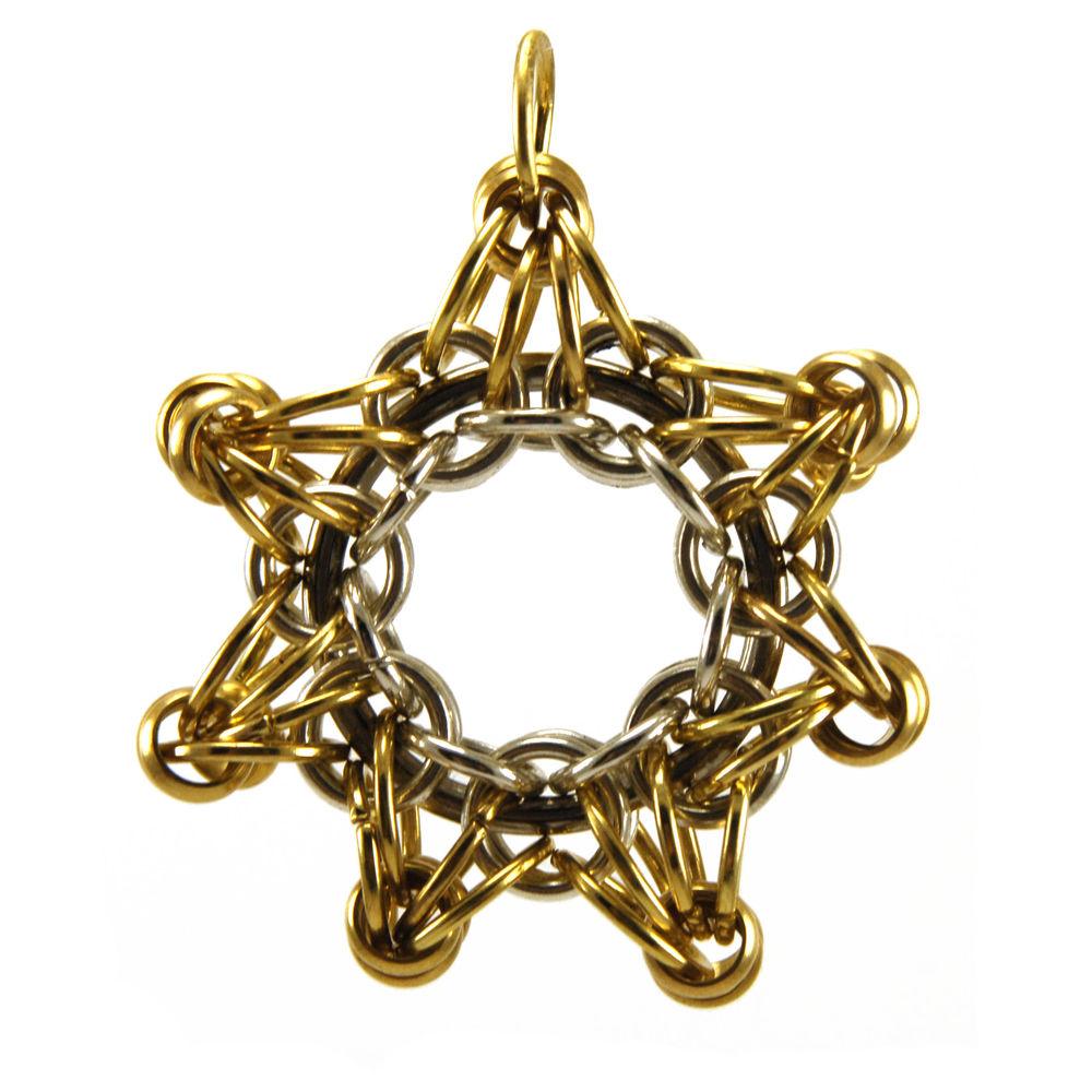 кольчужное плетение, звезда, подарок своими руками